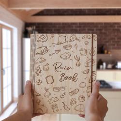 Drevený zápisník na recepty