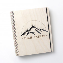 "Wooden notebook ""High Tatras"""