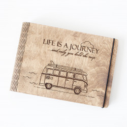 "Wooden notebook ""Life is a..."