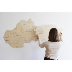 Drevená mapa Slovenska