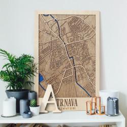 """Drevená mapa """"Trnava"""""""