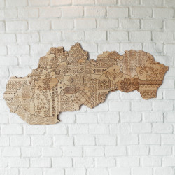 Map of Slovak Folk
