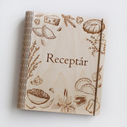 Wooden Recipe Book