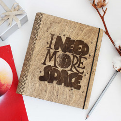 "Wooden notebook ""Space"""