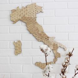 Nástenná drevená mapa...