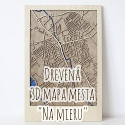 """Drevená mapa mesta """"Na mieru"""""""