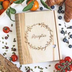 Drevený zápisník na recepty...
