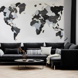 Drevená 3D Mapa Sveta +...