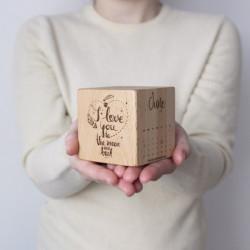 Drevená kocka s vašimi...